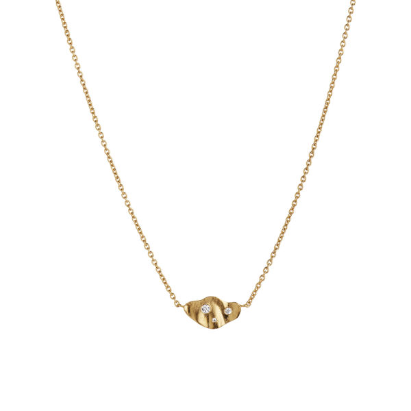 Stine A Clear sea necklace with stones gold